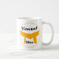 Custom Martial Arts Orange Belt Coffee Mug