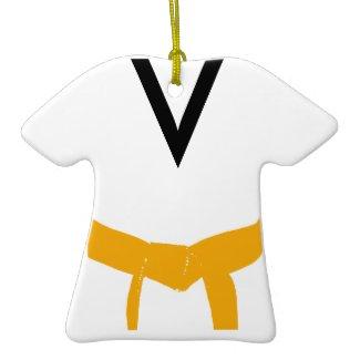 Custom Martial Arts Orange Belt Uniform Ornament