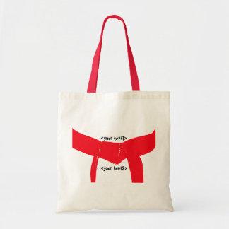 Custom Martial Arts Red Belt Canvas Tote Bag