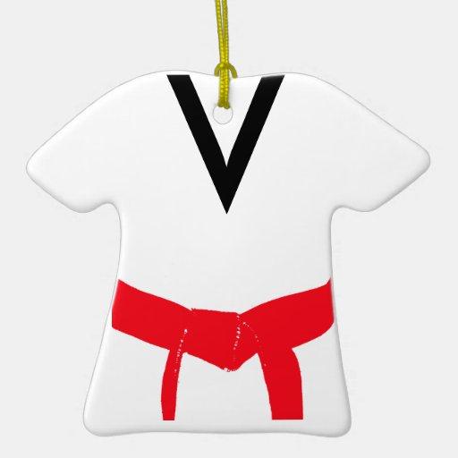 Custom Martial Arts Red Belt Uniform Ornament