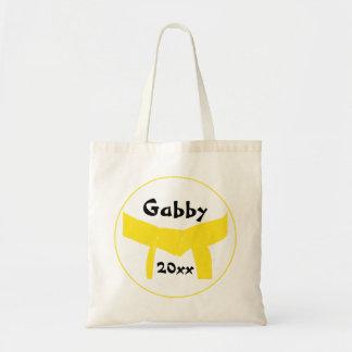 Custom Martial Arts Yellow Belt Canvas Tote Bag