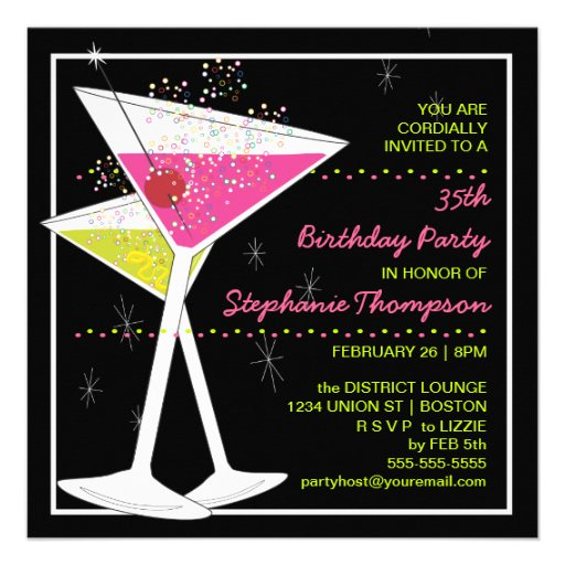 Cocktail Invite Wording for great invitation example