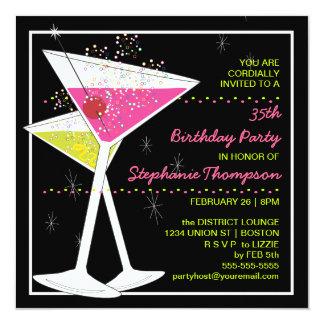 CUSTOM Martini Cocktail Birthday Party Invitation