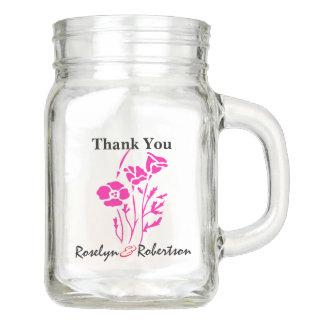 Custom Mason Jar Wedding Favor for Guests