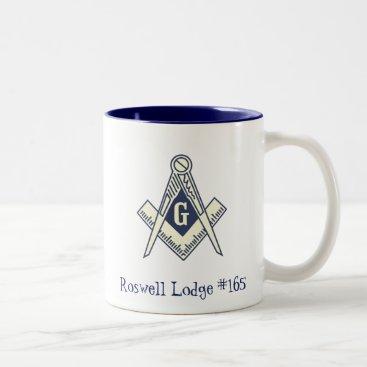 Coffee Themed Custom Masonic Blue Lodge Coffee Mug