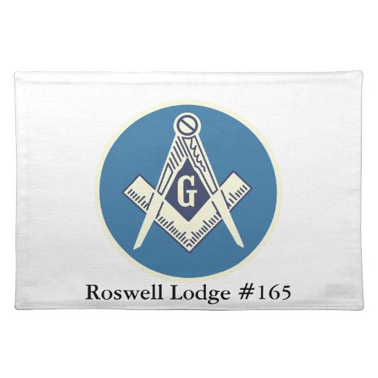 Custom Masonic Blue Lodge Dinner Mat