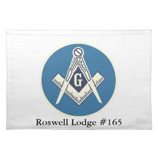 Custom Masonic Blue Lodge Dinner Mat Place Zazzle