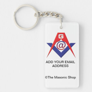 Custom Masonic Key Tag Single-Sided Rectangular Acrylic Keychain