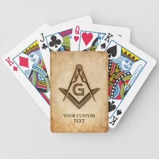 Custom Masonic Playing Cards   Freemason Gifts