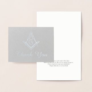 Golf thank you cards invitations greeting photo cards for Masonic thank you cards