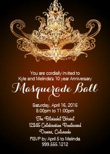 10 year anniversary invitations zazzle