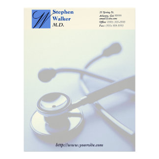 Custom Medical Doctor Stationary Letterhead