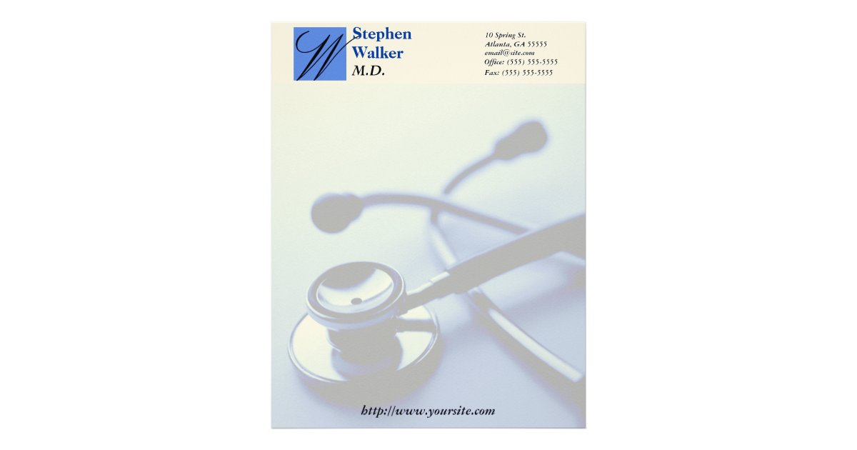 custom medical doctor stationary letterhead zazzlecom