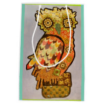 Custom Medium Gift Bag with Cool Owl