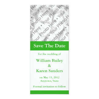 "Custom Medium Green Announcement or Invitation 4"" X 9.25"" Invitation Card"