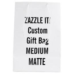 Custom MEDIUM MATTE Gift Bag Blank Template