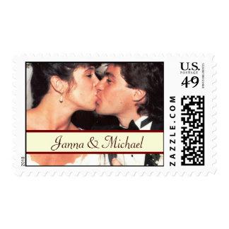 Custom Medium Size Wedding Photo Postage Stamp