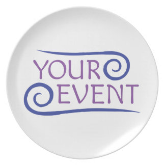 Custom Melamine Plate with Your Event Logo