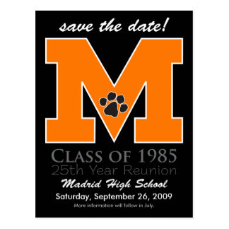 ::custom::_melissa Class Reunion Save-the-Date v3 Postcard