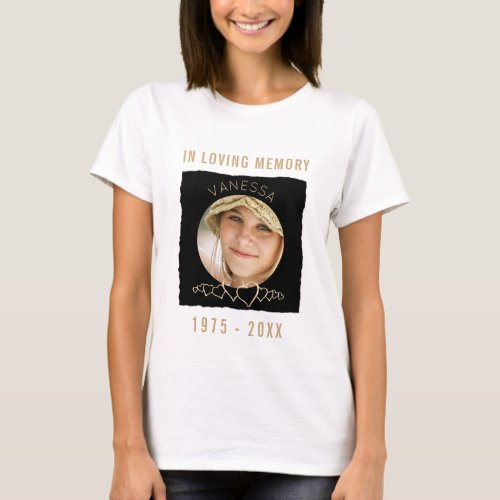 Custom Memorial Add Photo  In Loving Memory T_Shirt