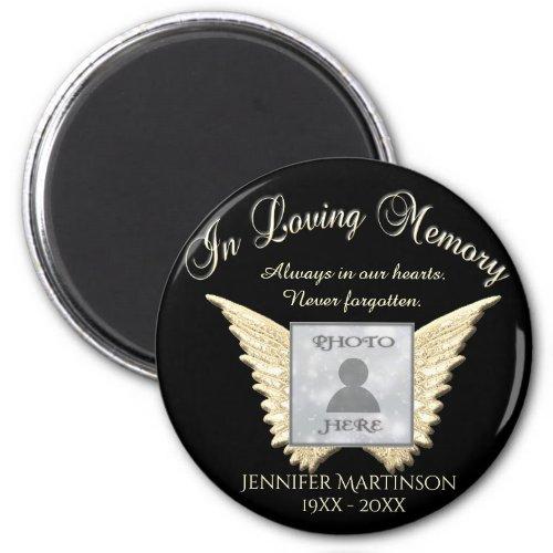 Custom Memorial | Angel Wings Add Photo Magnet