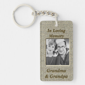 Custom Memorial Anique Gold Look Keychain