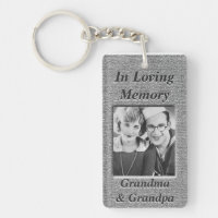 Custom Memorial Anique Silver Look Keychain