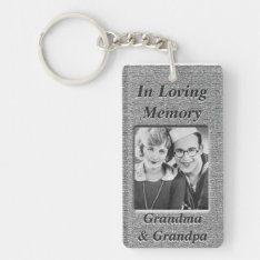 Custom Memorial Anique Silver Look Keychain at Zazzle
