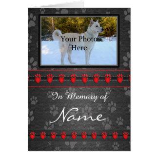 Custom Memorial Announcement - Faithful Companion Greeting Card