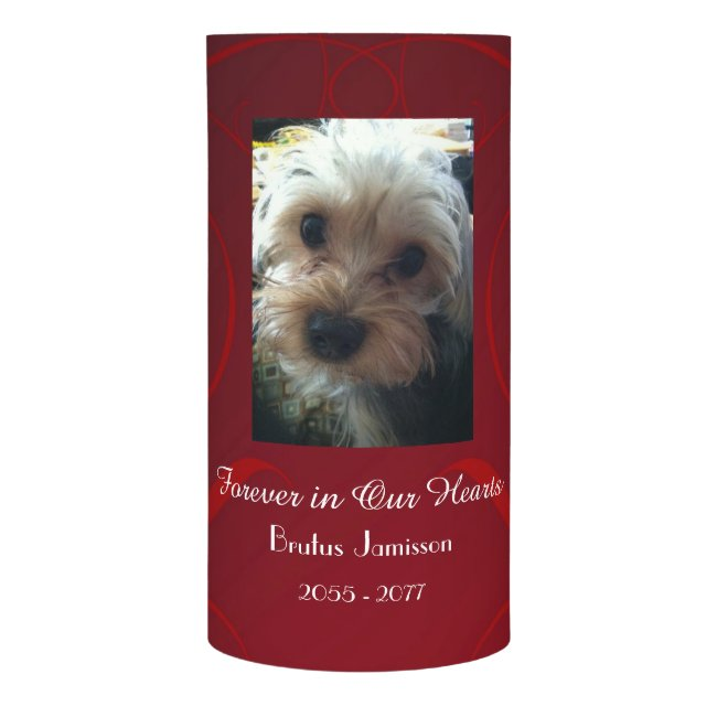 Custom Memorial Candle, Loss of Pet Dog or Cat