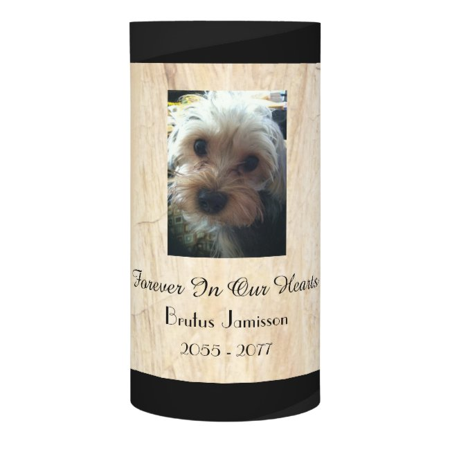Custom Memorial Candle, Pet, Faux Tan Parchment