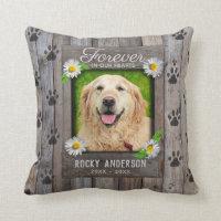 Custom Memorial for a Dog Throw Pillow