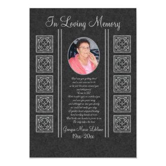 Custom Memorial Keepsakes Card