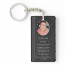Custom Memorial Keepsakes Keychain