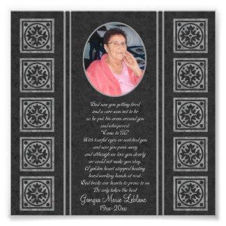 Custom Memorial Keepsakes Photo Print