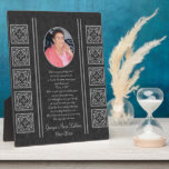 """Custom Memorial Keepsakes Plaque<br><div class=""""desc"""">Capture your heartfelt thoughts and feelings about your departed loved one. With a funeral poem. God saw you getting tired and a cure was not to be so he put his arms around you and whispered, &quot;Come to Me&quot; With tearful eyes we watched you and saw you pass away and...</div>"""