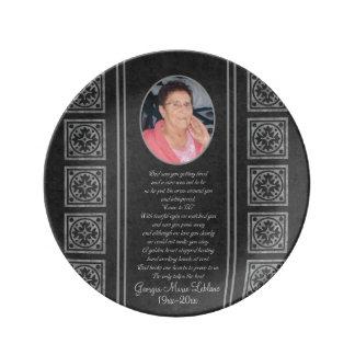 Custom Memorial Keepsakes Porcelain Plate