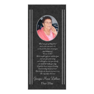 Custom Memorial Keepsakes Rack Card