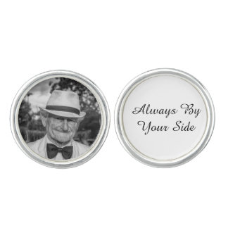 Custom Memorial Photo Groom Cufflinks