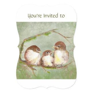 Custom Memorial Service Invite Sparrow Family Bird