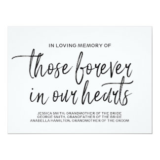 Custom Memorial Sign | Stylish Hand Lettered Card