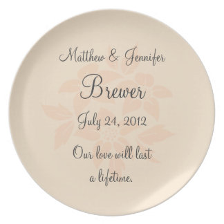 Custom Memorial Wedding Plate Keepsake with Text