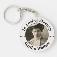 Custom Memorial With Photo Keychain at Zazzle