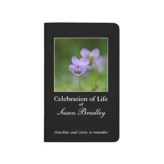 Custom Memory Book to give 4 Celebration of Life 1 Journal