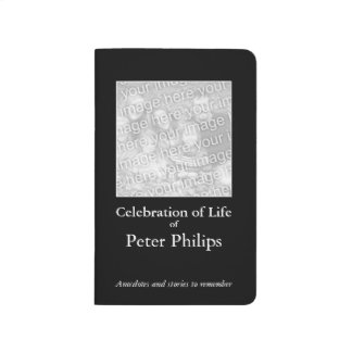 Custom Memory Book to give 4 Celebration of Life 3 Journal