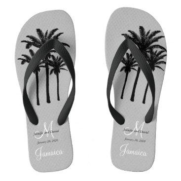 Beach Themed Custom Mens Beach Wedding Flip Flops