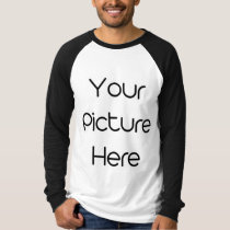 Custom Men's Canvas Long Sleeve Raglan T-Shirt