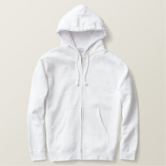 Custom Men's Embroidered Basic Zip Hoodie