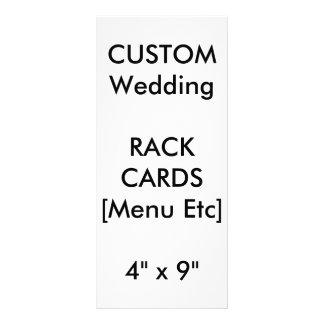 "Custom Menu & Program Cards 9""x4"" Vertical"