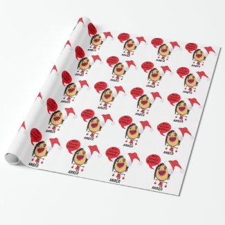 Custom Merry Christmas Bitches Cartoon Wrapping Paper